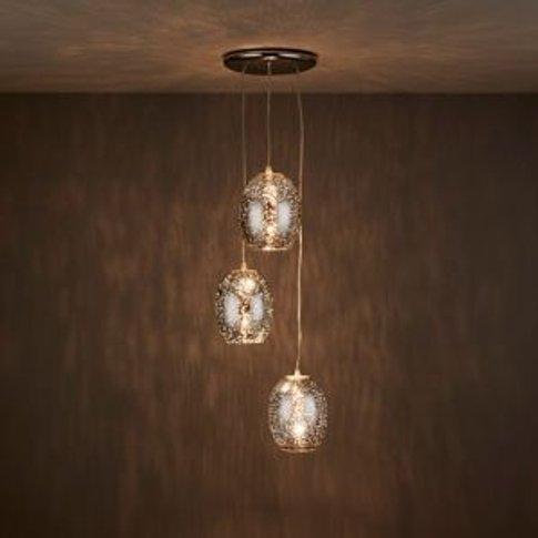 Guerrein Chrome Effect 3 Lamp Pendant Ceiling Light
