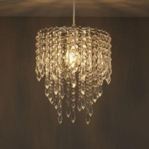 Colours Agassiz Clear Crystal effect Beaded Light sh...