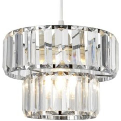Colours Bayano Clear Crystal Effect Faceted Light Sh...