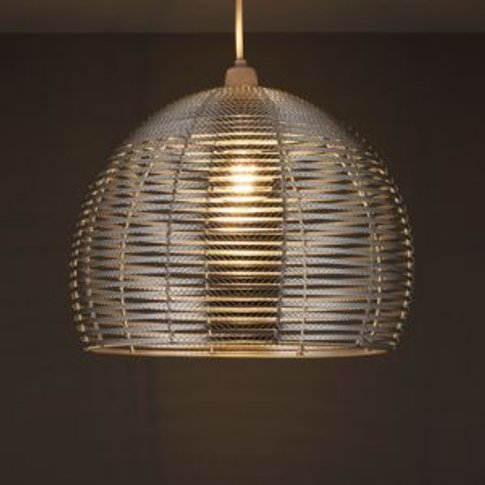 Colours Beloye Silver Effect Light Shade (D)340mm