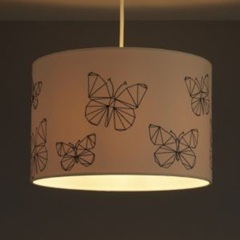 Colours Limia Cream Butterfly stitched Light shade (...