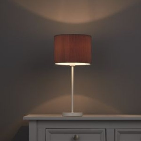 Colours Zadeh Stone Micropleat Light shade (D)200mm