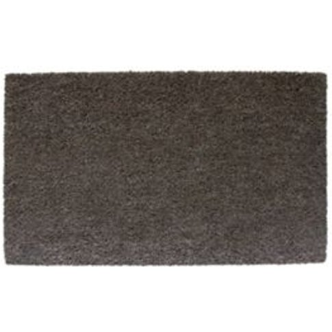 Diall Plain Printed Grey Coir Door Mat (L)0.75m (W)0...