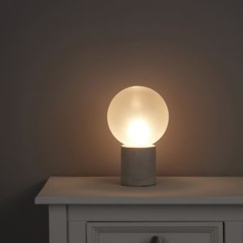 Ariella Concrete Effect Halogen Table Lamp