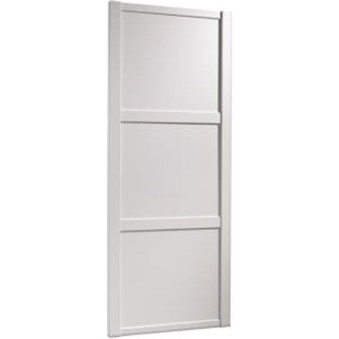 Shaker White Panel Effect Sliding Wardrobe Door (H)2...