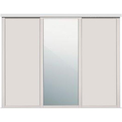 Shaker Mirrored Cashmere Sliding Wardrobe Door (W)61...