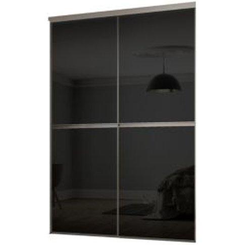 Minimalist Black Sliding Wardrobe Door Kit (H)2260 M...