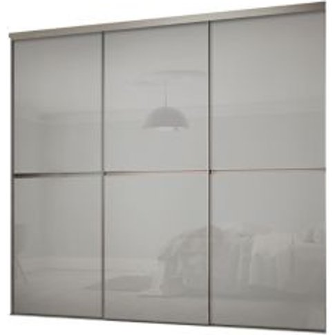 Minimalist Grey Sliding Wardrobe Door Kit (H)2260 Mm...