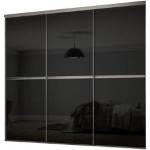 Minimalist Black Sliding Wardrobe Door Kit (H)2260 Mm (W)2702mm  Pack Of 3