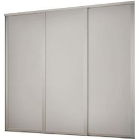 Shaker Contemporary Dove Grey Sliding Wardrobe Door ...
