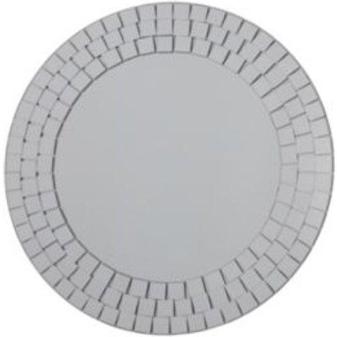 Mosaic Unframed Round Mirror (H)500mm (W) 500mm