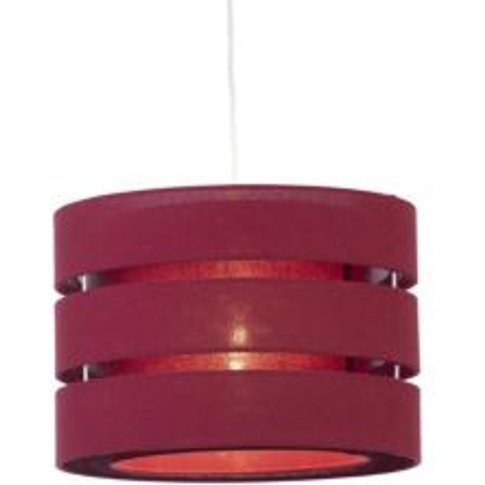 Colours Trio Crimson Red Classic Light Shade (D)350mm