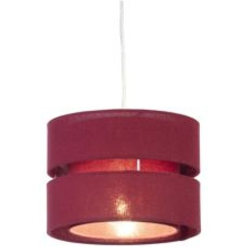 Colours Duo Crimson Red Classic Light Shade (D)220mm