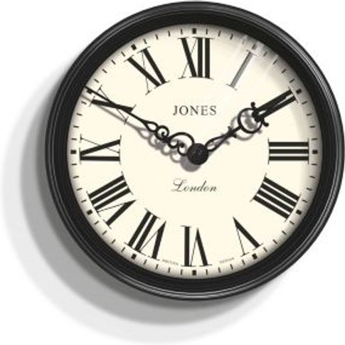 Jones Savoy Traditional Black Wall Clock
