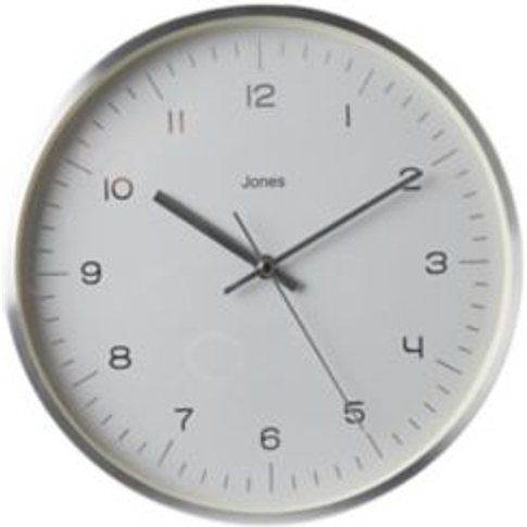 Jones Studio Contemporary Chrome Effect Clock
