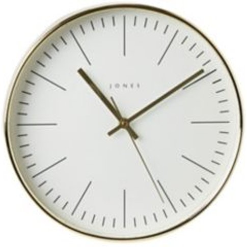 Jones Studio Contemporary Gold Effect Quartz Clock