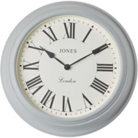 Jones Cocktail Contemporary Grey Quartz Clock