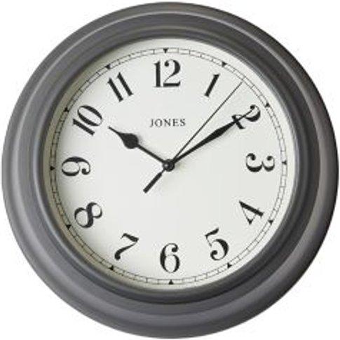 Jones Can Contemporary Grey Quartz Clock