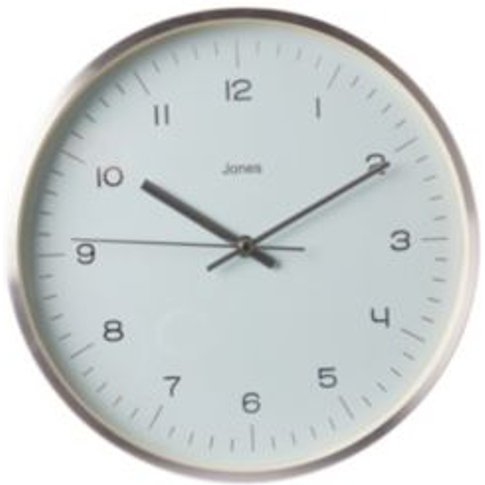 Jones Fame Contemporary Silver Effect Clock