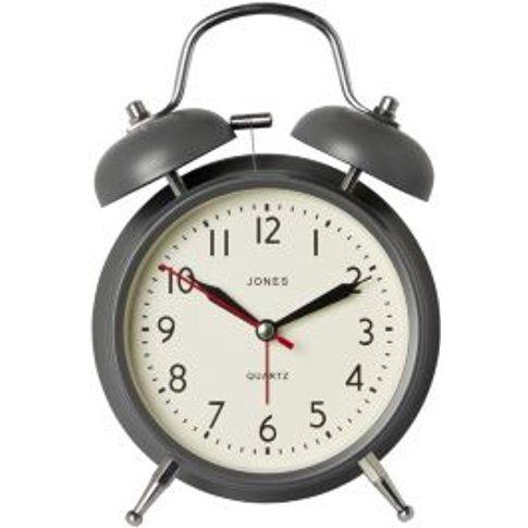 Jones Twin Bell Blizzard Grey Alarm Clock