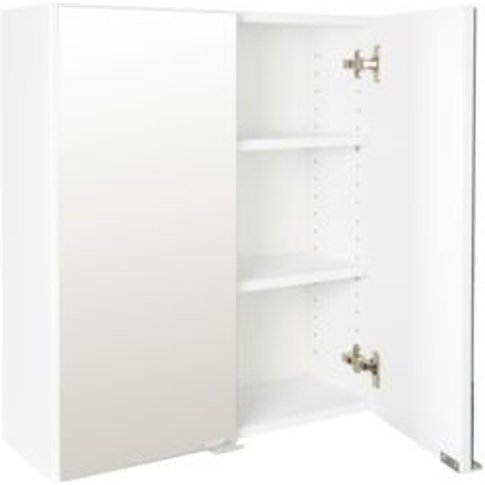 Cooke & Lewis Sorella Gloss White Mirrored Wall cabi...
