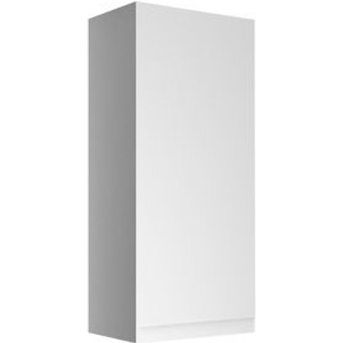 Cooke & Lewis Marletti Gloss White Mirrored Single Door Wall Cabinet (W)300mm (H)672mm
