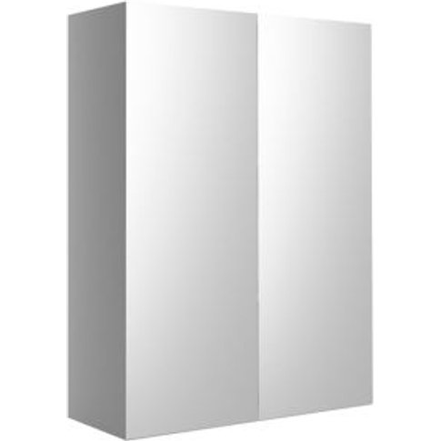 Cooke & Lewis Sorella White Mirrored Wall cabinet  (...