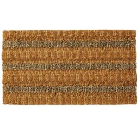 Colours Natural Coir  seagrass & jute Door mat (L)0....