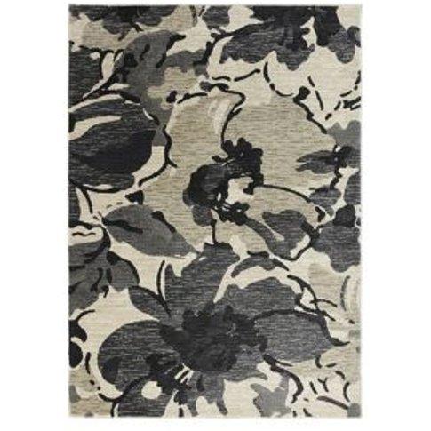 Colours Antonia Floral Beige & Black Rug (L)1.7m (W)...