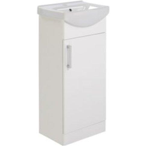 Ardenno Gloss White Cloakroom vanity unit & basin set