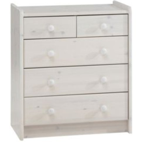 Form Wizard White 5 Drawer Chest (H)720mm (W)640mm (...