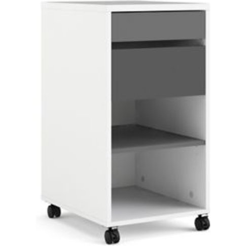 Liten Matt White & Grey 1 Shelf Storage Unit (H)769....