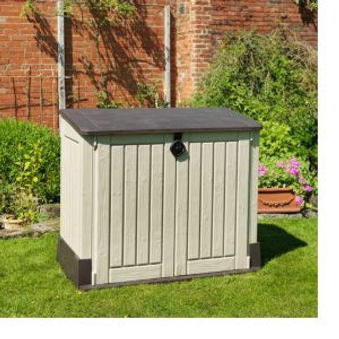 Store it out midi Wood effect Plastic Garden storage...