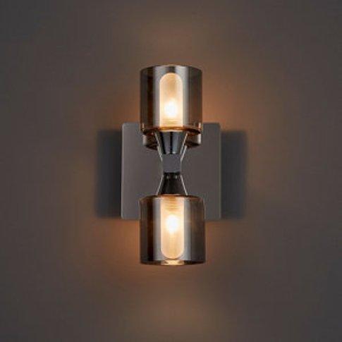 Cobark Smoked Effect Bathroom Wall Light