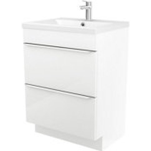 Goodhome Imandra White Freestanding Vanity Unit & Basin Set  (W)604mm