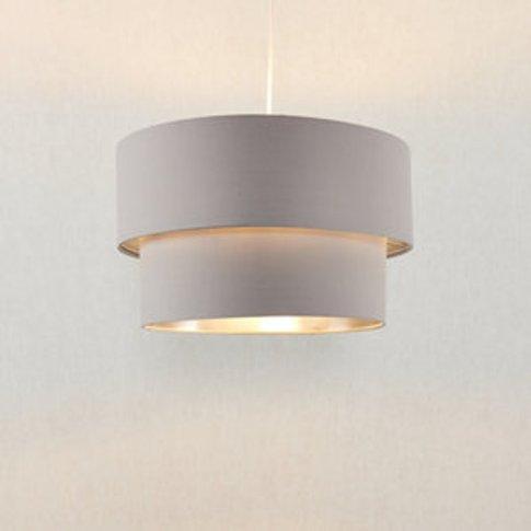 Didsbury Grey Modern Lamp Shade (D)400mm