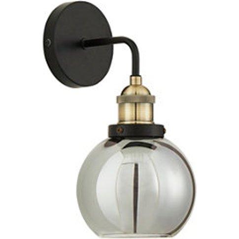 Mebel Matt Antique Brass Effect Wall Light  Pack Of 2