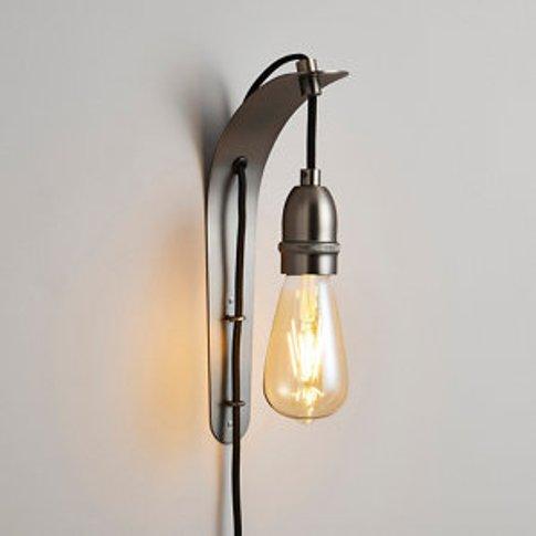 Faro Polished Black & Pewter Plug-In Wall Light