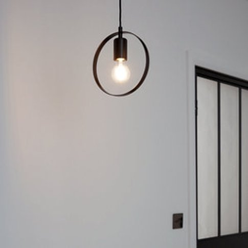Kaitains Matt Black Pendant Ceiling Light