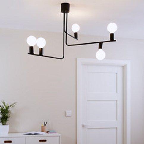 Darrah Matt Black 5 Lamp Pendant Ceiling Light