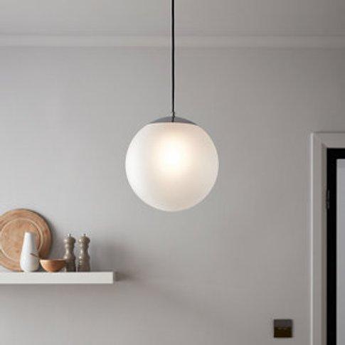 Dacite White Chrome Effect Pendant Ceiling Light
