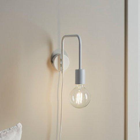 Ghlin Matt White Plug-In Wall Light