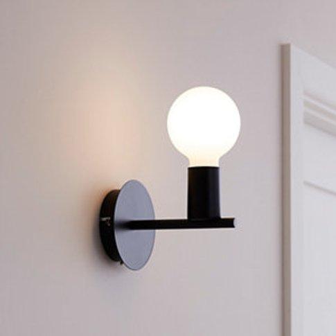 Darrah Matt Black Wall Light