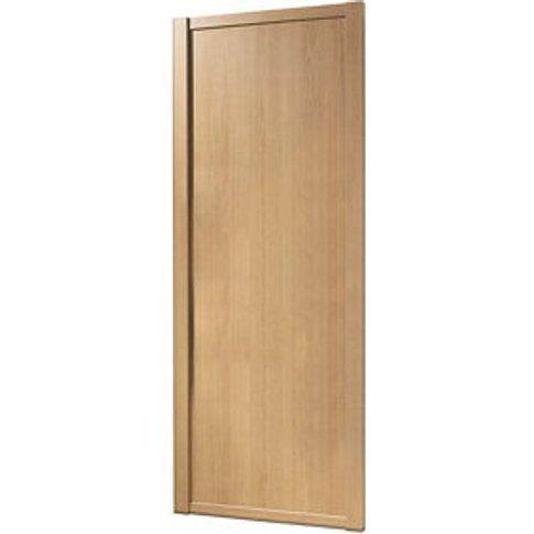 Shaker Natural Oak Effect Sliding Wardrobe Door (H)2...