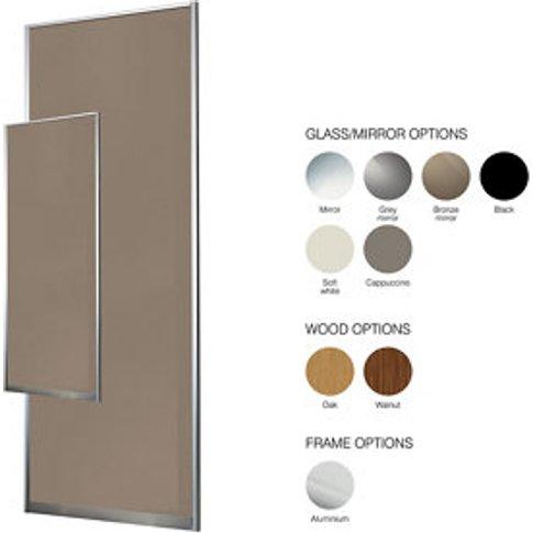 Made To Measure Mirrored Sliding Wardrobe Door (W)900mm