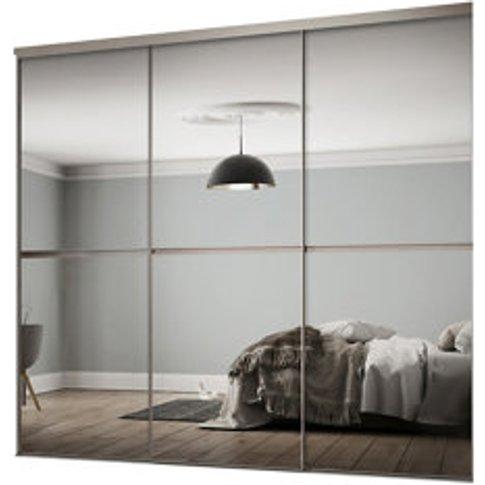 Minimalist Mirrored 3 Door Sliding Wardrobe Door Kit...