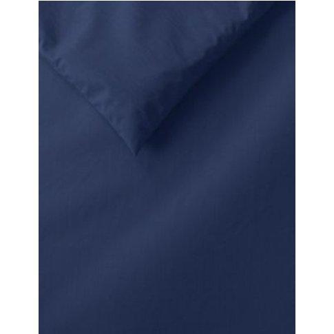M&S Comfortably Cool Duvet Cover - Dbl - Navy, Navy,...