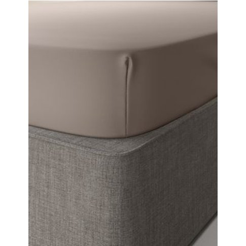 M&S Comfortably Cool Fitted Sheet - Sgl - Taupe, Tau...