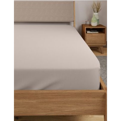 M&S Comfortably Cool Deep Fitted Sheet - 5ft - Taupe...