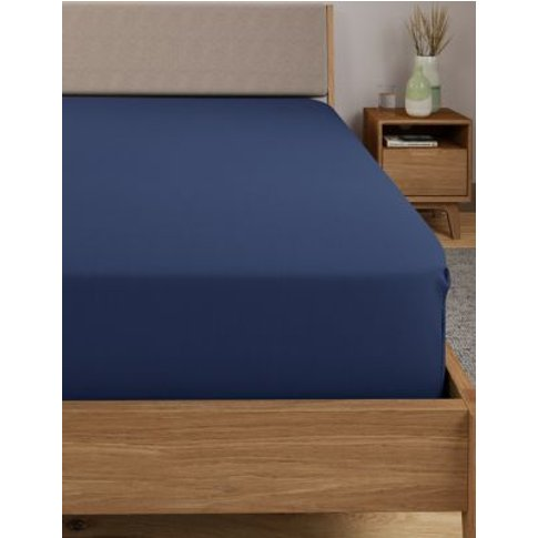M&S Comfortably Cool Extra Deep Fitted Sheet - 5ft -...